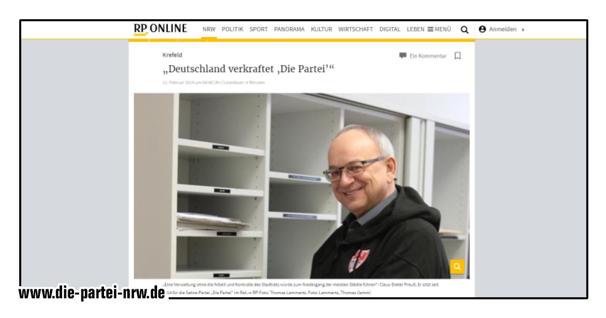 Landesgeschäftsführer und Krefelder Ratsherr CD Preuß im Interview!