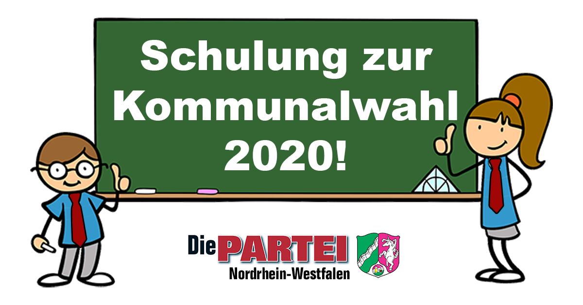 Delegierten-Schulung zur Kommunalwahl 2020!